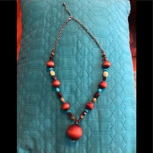 BROWN AND BLUE NECKLACE!